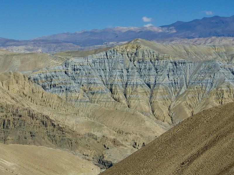 Colourful rock strata
