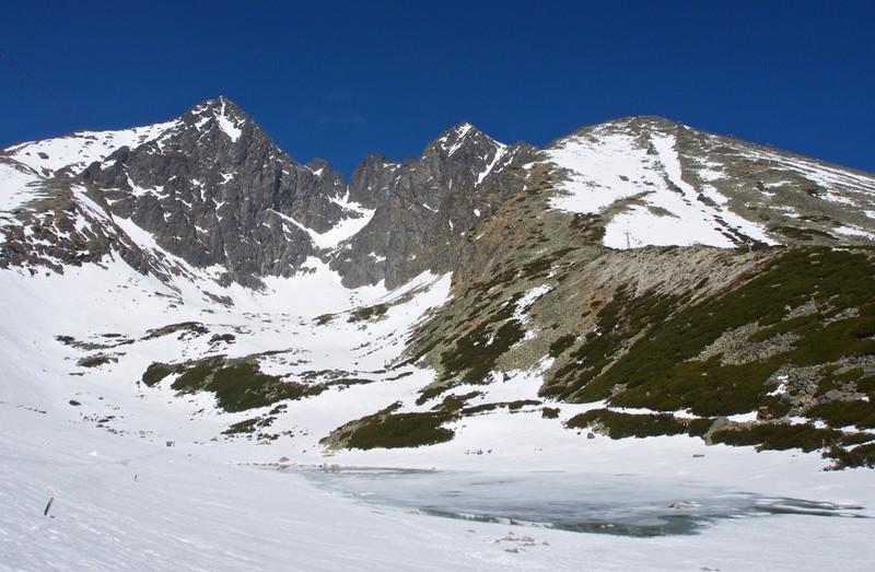Glacier lake at Skalnaté Pleso (1751m)