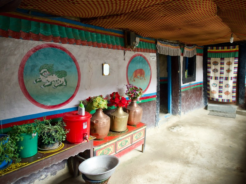 Corridor where you wash your hand in Charang