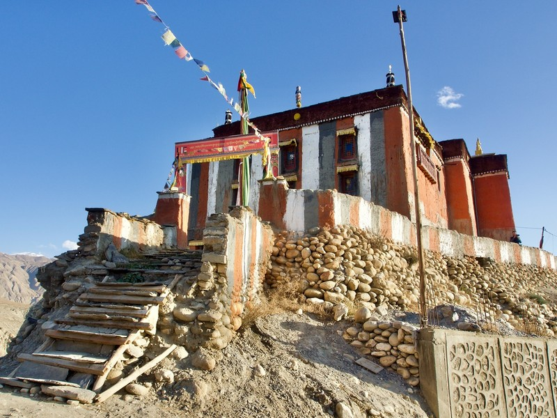 Stairs to the monastery in Charang
