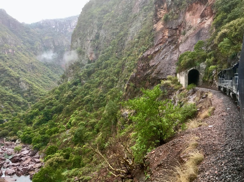One of the 86 tunnels