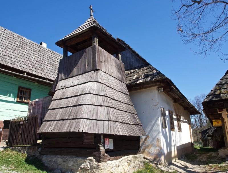 Vlkolínec church tower