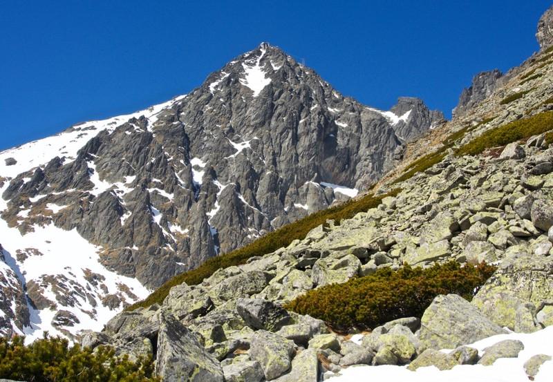 View of Lomnický štít (2634m)