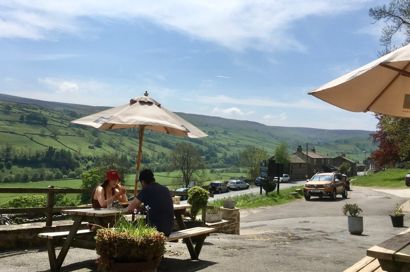 Well deserved lunch in the Dales
