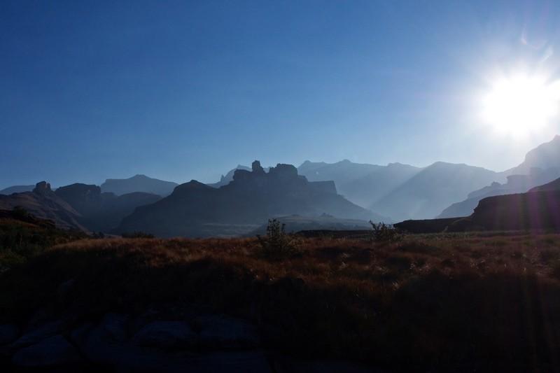 Drakensberg Scenery at dusk