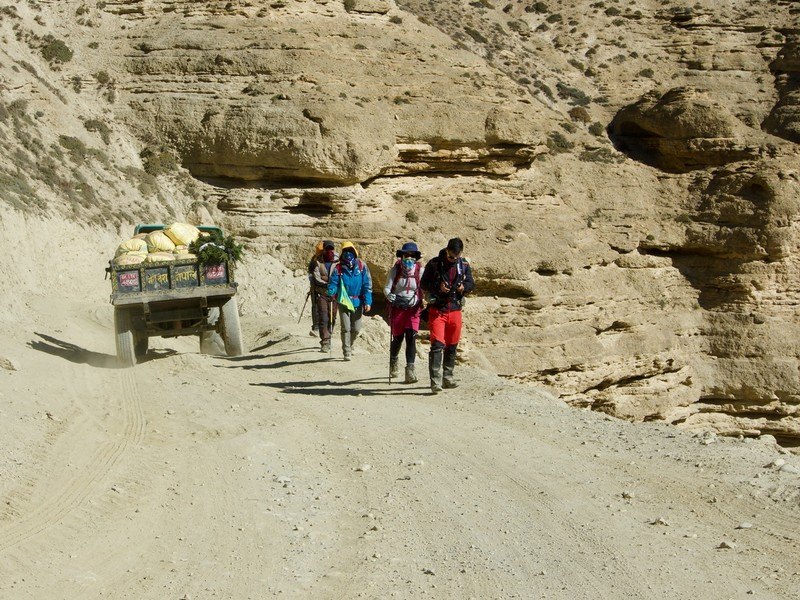 Hikers and local transport