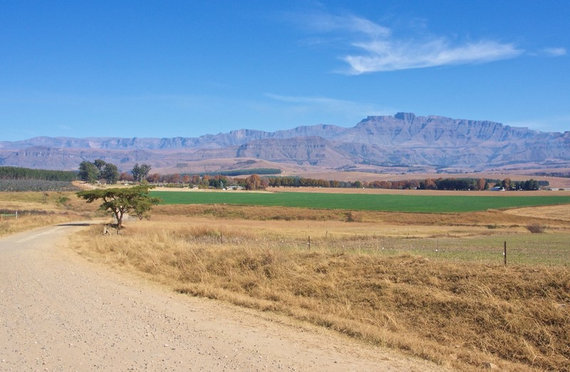 View from the cottage in Central Drakensberg