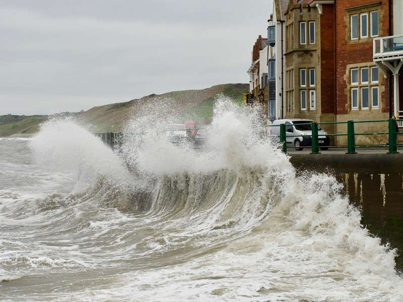 Stormy day at Sandsend
