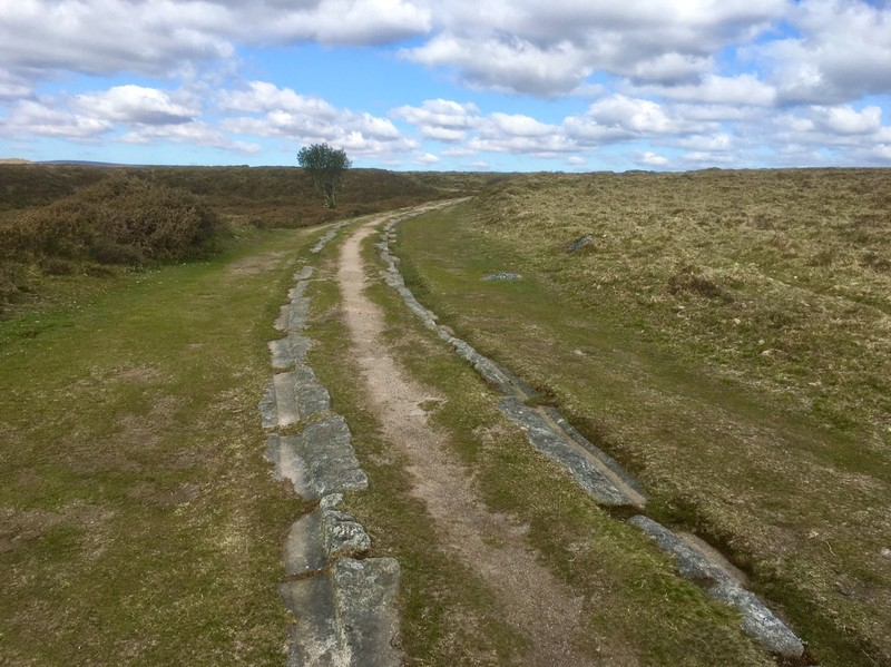 Granite tracks of the old tramway