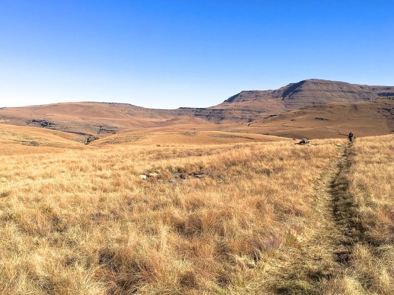 Walk in the Drakensberg near Underberg