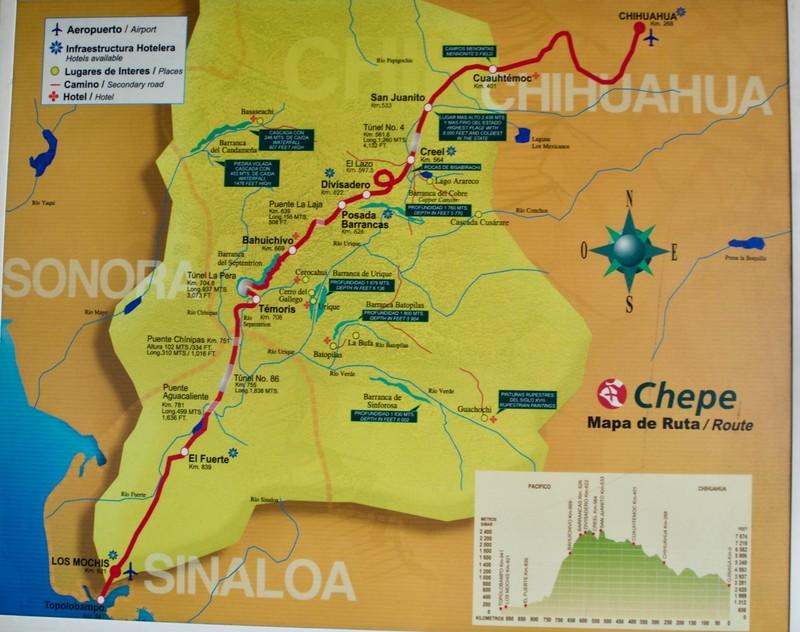 Map of Chepe Train