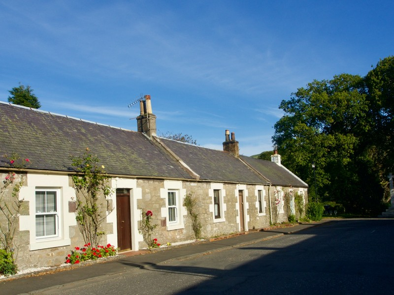 Our accommodation in Straiton, traditional Scottish single story house