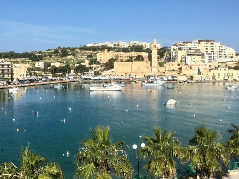 View from our apartment in Marsaskala