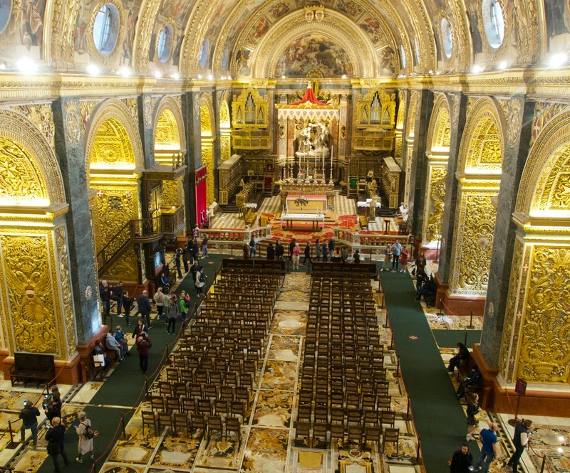 Overview of St Paul's Cathedral, Valletta