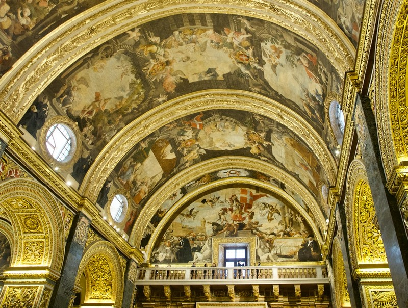 St Paul's Cathedral Ceiling in Valletta