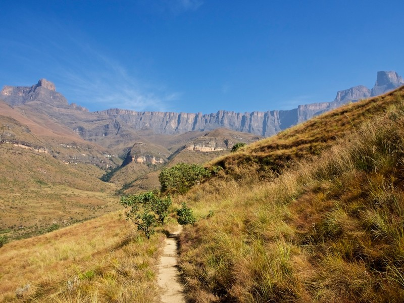 View during the Amphitheatre walk in Royal Natal NP