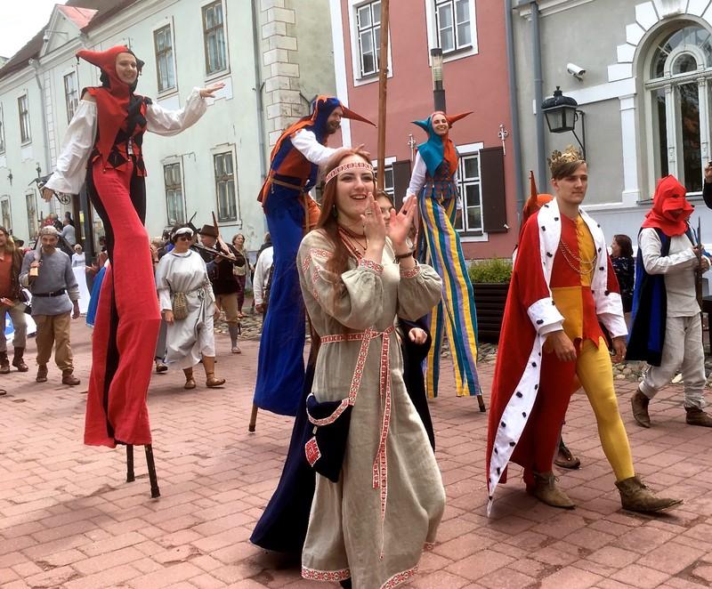 Medieval Festival Parade in Parnu