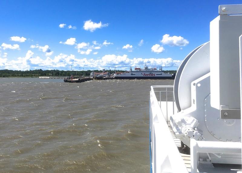 Ferry between Virtsu and Kuivastu, on our way to the island of Saaremaa