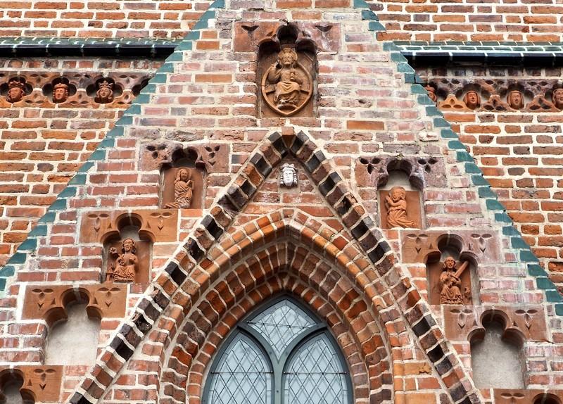 Terracotta detailing on a church in Tartu
