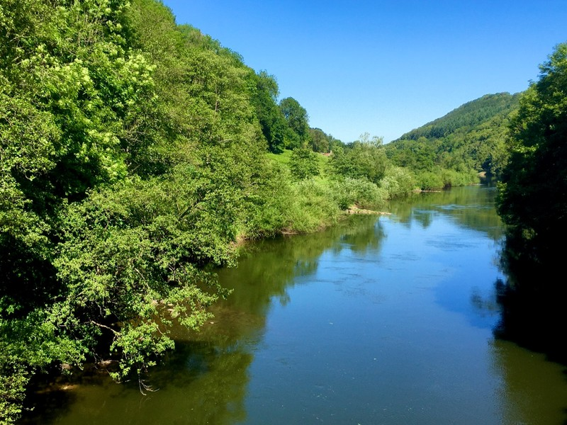 River Wye (one side is England and the other Wales)