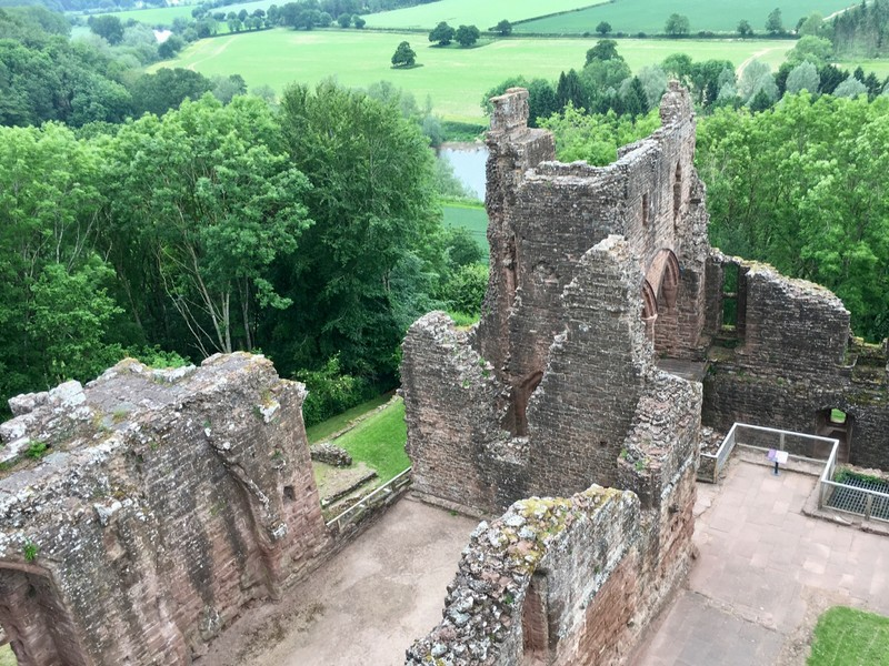 one of the finest and best preserved of all English medieval castles: Goodrich Castle