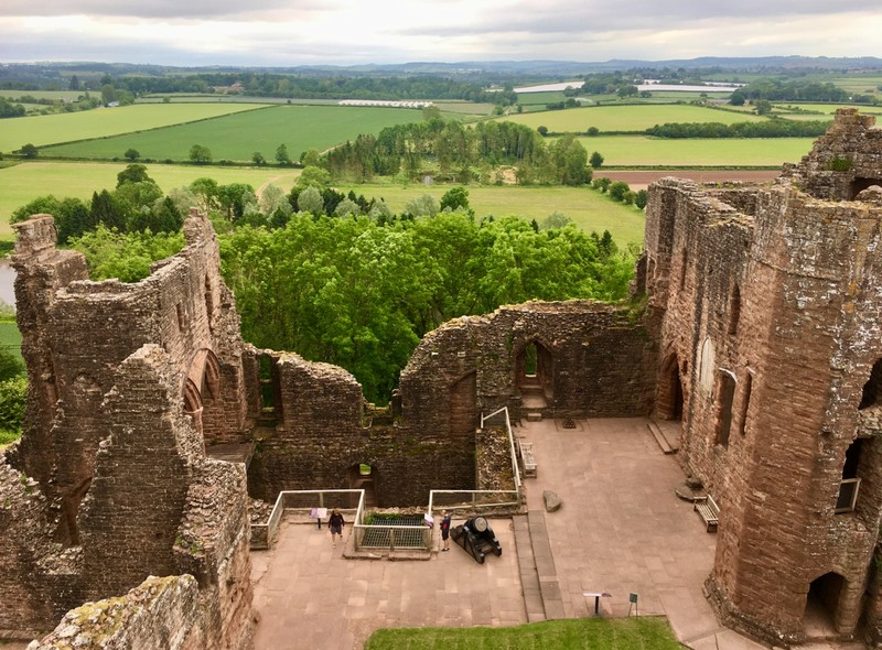 Medieval Goodrich castle, a stop en route from Somerset to Wales