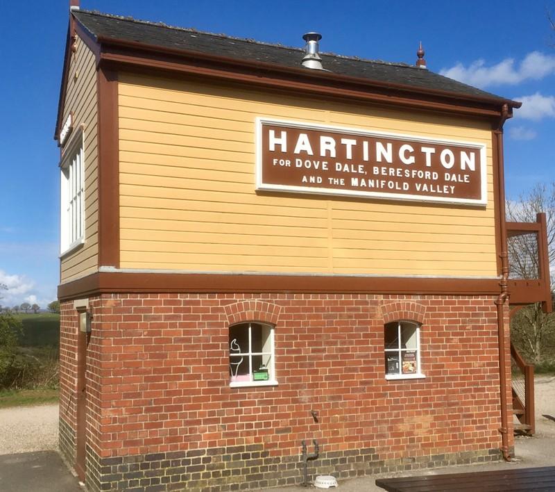 Hartington Railway signal box on the Tissington Trail