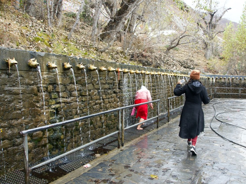 Muktinath temple, holly water spouts