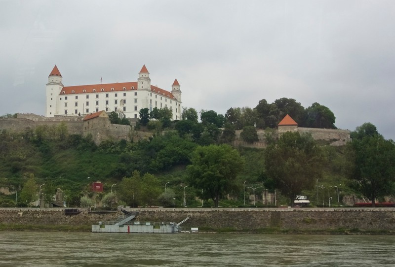 Bratislava Castle from the Danube River