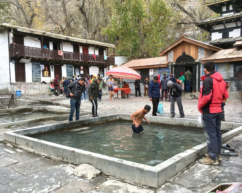 Muktinath temple, holly dipping pool