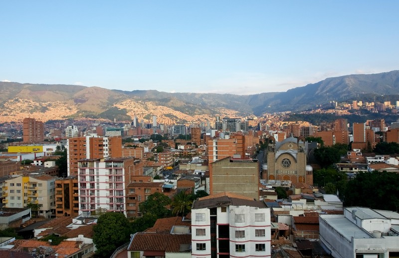 View over Medellin from our first apartment