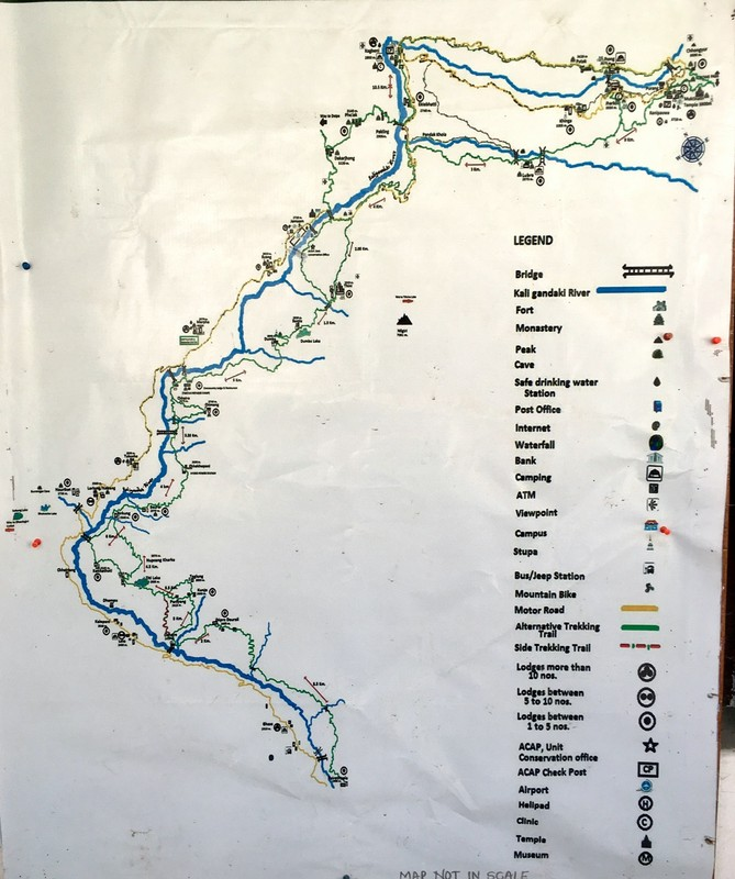 Map of our route in the Upper Mustang