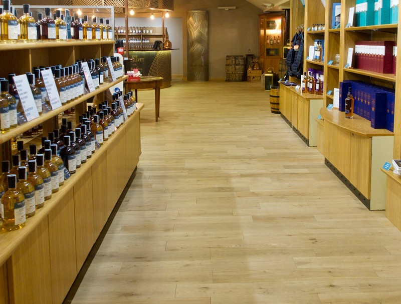 Shop and tasting room at Glenlivet