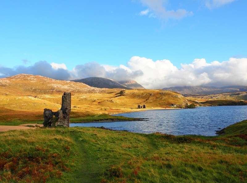 Ardvreck Castle and Calda House in the background