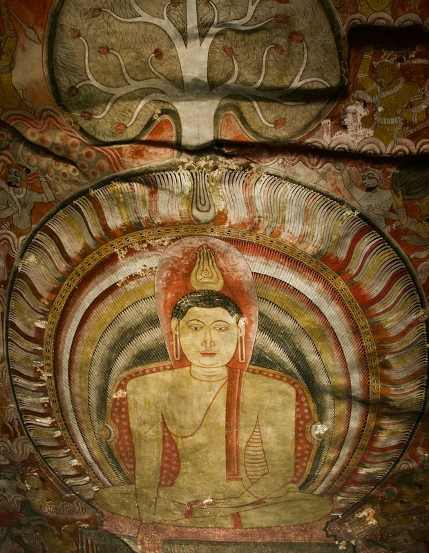 Painting on the rock of cave temple