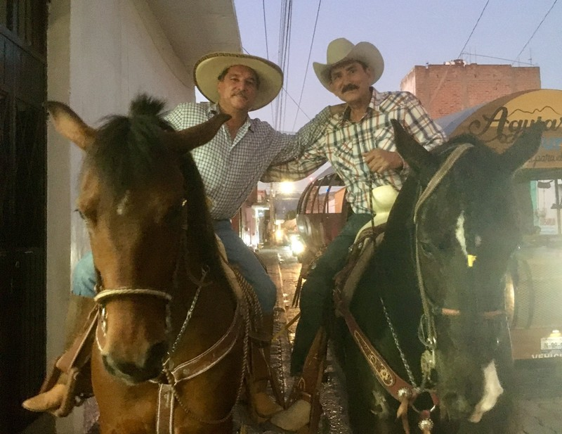 Dos caballeros in Tequila for the Fiesta