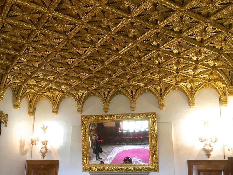 Gilded ceiling in Bojnice Castle