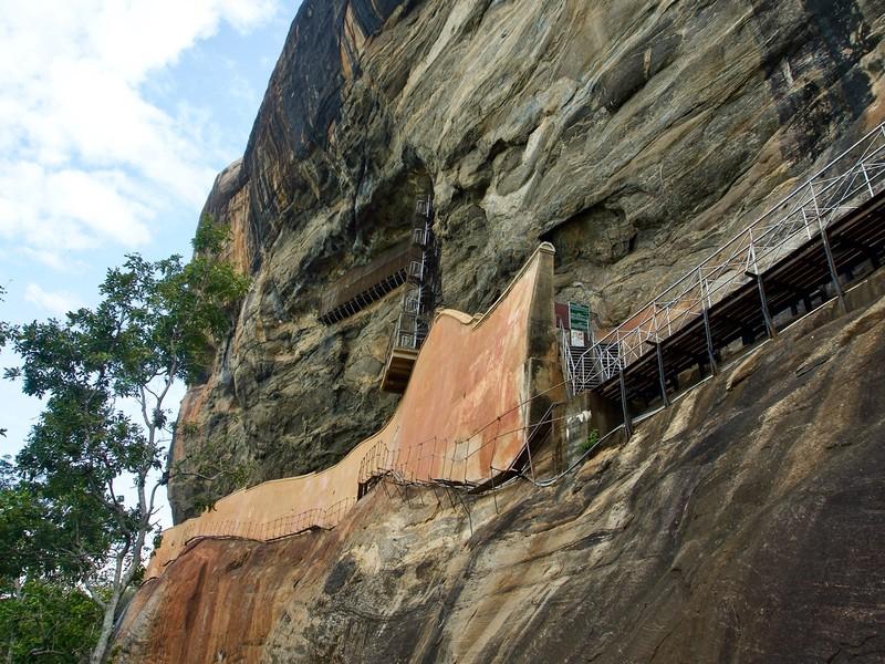The mirror wall of Sigiriya