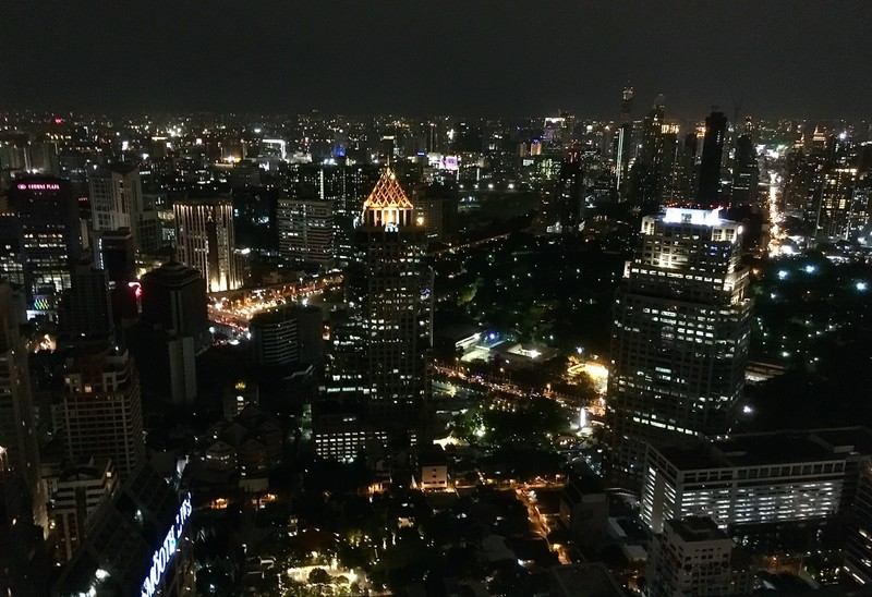 Bangkok by night view from the Moon Bar