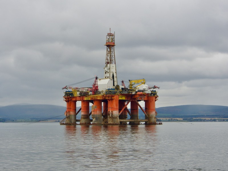 Disused oil rig in the Cromarty Firth