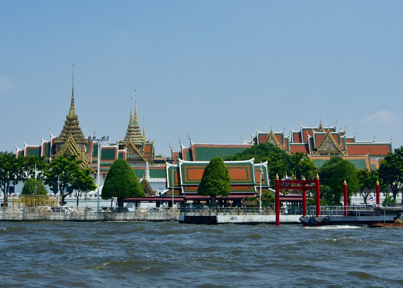 Grand Palace view from the river Phraya
