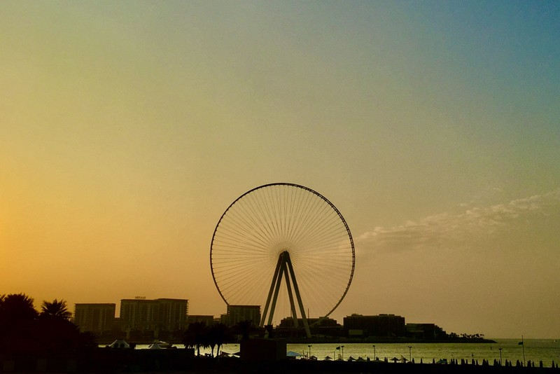 Dubai Ferris Wheel, the highest of it's kind at 210m