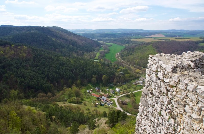 View from Čachtice Castle