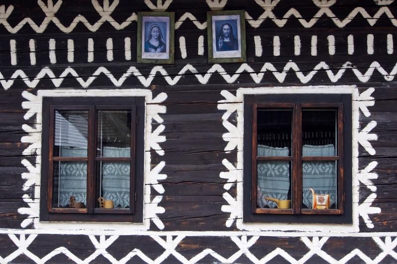 Detail on a house in Čičmany
