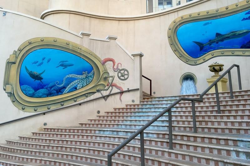 Marina Walk street mural