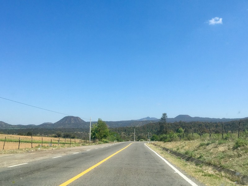 Road through Michoacan state