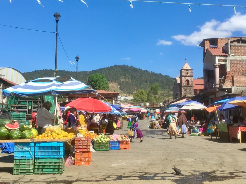 Market day in Michoacan state on our way to Uruapan