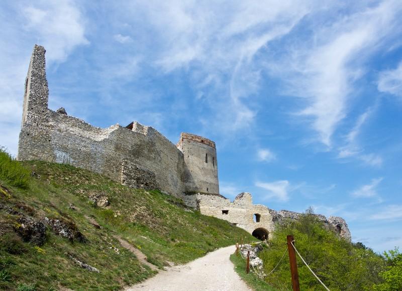 Čachtice Castle entrance