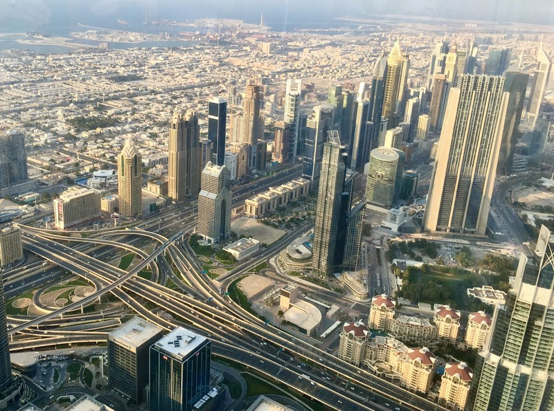 View from the 125th floor of the Burj Khalifa