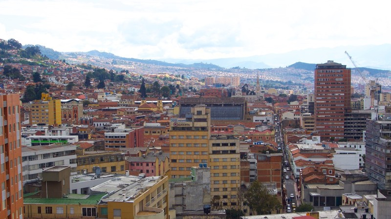 View of Bogota from our apartment